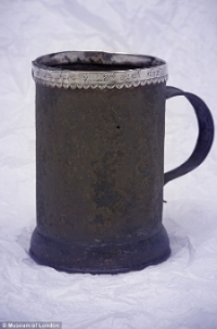 A souvenir tankard from the frost fair of 1683
