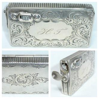 Antique silver box 2